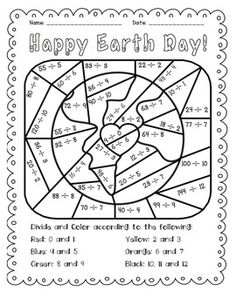 Earth Day Mystery Picture Graphing Activity Graphing activities