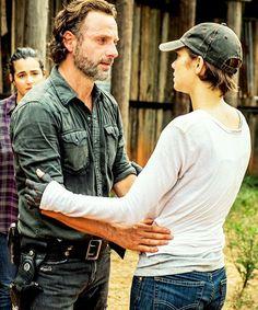 Rick Grimes and Maggie Rhee - The Walking Dead season 7