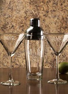 The 3-pc. Martini Set with Shaker and Martini Glasses is the perfect gift for host and hostesses in your life this holiday season and will help anyone shake up a personal bar experience.