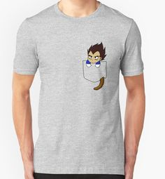 Chibi Vegeta in shirt pocket by msdbzbabe - Visit now for 3D Dragon Ball Z shirts now on sale!