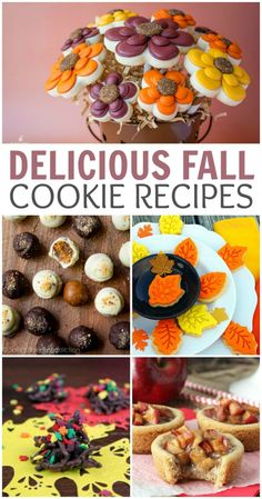 Fall Cookie Recipes - 25 Delicious fall cookie recipes to get you in the mood this time of year! Fall Cookie Recipes, Fall Recipes, Holiday Recipes, Snack Recipes, Dessert Recipes, Snacks, Holiday Treats, Thanksgiving Desserts, Fall Cookies
