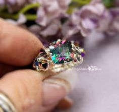 Mystic Topaz Rainbow Starburst Cut Hand by MyWiredImagination, $90.00