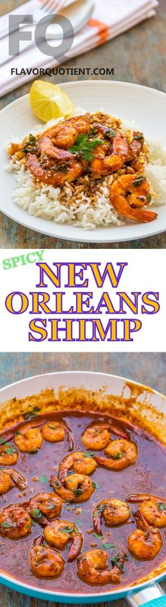This spicy New Orleans shrimps is my new-found love and I can't get over it. A classic shrimp recipe, this New Orleans style shrimp is a must for your recipe repertoire! #FlavorQuotient #ShrimpRecipes