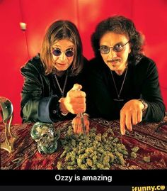 Tony Iommi and Ozzy Osbourne-Black Sabbath. Woodstock, Hard Rock, Rock Bands, Tony Iommi, Ozzy Osbourne Black Sabbath, Tribute, We Will Rock You, Band Photos, Heavy Metal Bands