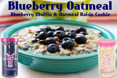 Pink Zebra Recipe: Blueberry Oatmeal.  Featuring:  Oatmeal Raisin Cookie and Blueberry Muffin