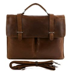 "Handmade Superior Leather Briefcase / Messenger / 14"" 15"" Laptop or 13"" 15"" MacBook Pro Bag"