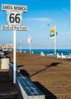 Route 66 End, Santa Mónica, California Route 66 Attractions, Route 66 Road Trip, Travel Route, Road Trip Usa, Travel Oklahoma, Pier Santa Monica, Voyage Usa, Historic Route 66, Whatsapp Wallpaper
