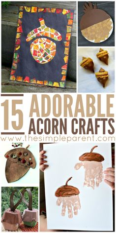 Get ready for fall activities with these adorable acorn crafts for kids! These h… Get ready for fall activities with these adorable acorn crafts for kids! These hands on activities for kids are fun ways to celebrate the arrival of autumn! Autumn Activities For Kids, Fall Crafts For Kids, Thanksgiving Crafts, Craft Activities, Holiday Crafts, Fun Crafts, Fall Crafts For Preschoolers, Autumn Art Ideas For Kids, Fall Crafts For Toddlers