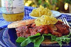 UNCLE GARY'S GOURMET PEPPERS ON NEW YORK STRIP STEAK SANDWICH