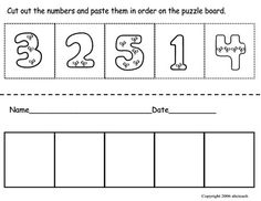 worksheet where students order numbers one through five