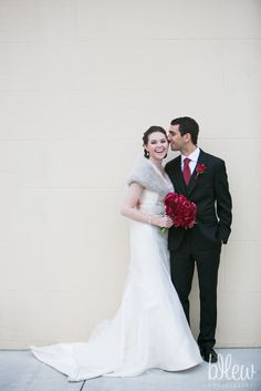 Real bride Amy wearing Tara Keely style 2155 and husband Michael on their big day in California