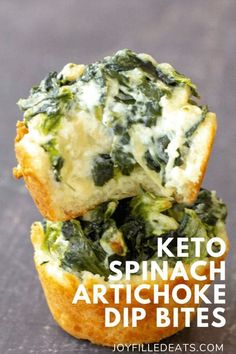 My Low Carb Spinach Artichoke Dip Bites have everything you love about an appetizer, minus all the carbs! Each warm bite-sized keto appetizer has an excellent crust filled with spinach, plenty of cheese, and savory artichokes.