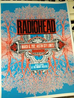 Radiohead kicked off season 38 of Austin City Limits last night on PBS. If you missed it, check your local listings for the repeat, or just watch the whole thing below. Tour Posters, Band Posters, Festival Posters, Concert Posters, Gig Poster, Music Artwork, Art Music, Radiohead Poster, Musik Illustration