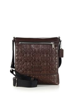 53bd36121d ... best price coach mens brown sullivan calfskin leather crossbody bag new  71650 425 coach 40abf a4626 coupon code for coach legacy leather flight ...