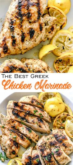 This easy chicken marinade infuses chicken of any cut with the classic Greek flavors of lemon, garlic and oregano plus Greek yogurt for a more tender bite. Greek Chicken Breast, Greek Grilled Chicken, Greek Chicken Recipes, Greek Recipes, Greek Style Chicken, Greek Chicken Seasoning, Greek Chicken Marinade Yogurt, Greek Chicken Salad, Grilled Lamb
