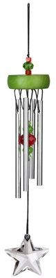 Green Starlight Chime.  Green and red crystals plus a vibrant sound make every day a holiday. Star Light, Star Bright, First star I see tonightMany people make a wish on the first star they see each night. Why wait? Our Starlight Chimes let you make wishes even when the sun's out! Whether you save this for the holidays or display it all year long, it's more than an ornament, it's a wish come true.  #star #windchime #windchimes
