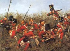 British infantry at (probably) Quatre Bras during the run-up to the Battle of Waterloo