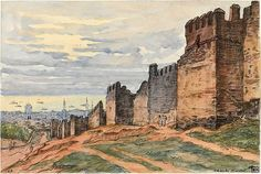 Walls of Thessaloniki by Charles Martel (1919).2 Thessaloniki, World War I, Archaeology, Art History, Monument Valley, Medieval, Spain, England, Europe