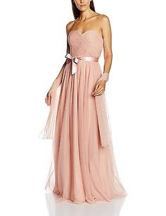 18, Pink (Blush), Mascara Women's Nett Bow Gown Dress NEW