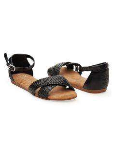 Black Woven Women's Correa Sandals | TOMS