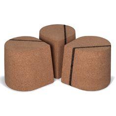 Skram Cork Drop 12       as shown: solid high density cork with black cork detail.