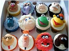 Muppets cup cakes