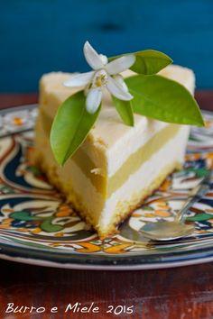 Burro e Miele: Il paese che lascio. Torta Marocco (pan di spagna con chibouste ai fiori d'arancio e orange curd)