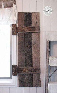 DIY: Barn Wood Shutters From Pallets