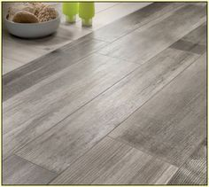"tile that looks like gray wood - I'm really feeling this whole ""Gray is the new Neutral"""