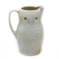 Snowy Owl Pitcher by Sue Tirrell - The Clay Studio