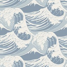 Buy Cole & Son Great Wave Wallpaper, 89/2007 | John Lewis