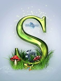 Download Green Letter S Mobile Wallpaper | Mobile Toones