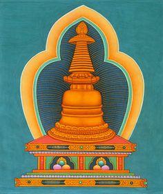 A Estupa representa a mente de um Buda