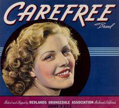 Vintage Labels, Vintage Ads, Vintage Posters, Blue Aesthetic, Aesthetic Vintage, Redlands California, Canvas Size, Canvas Art, Vintage Girls