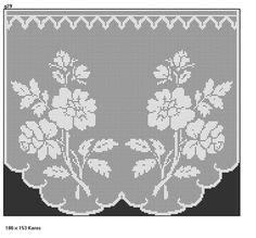 z1 filet crochet ...;5 Crochet Curtains, Lace Curtains, Crochet Curtain Pattern, Curtain Patterns, Crochet Art, Crochet Doilies, Crochet Flowers, Crochet Home, Love Crochet
