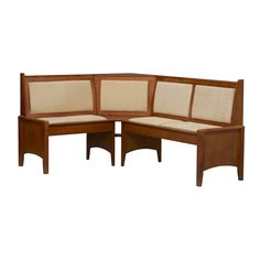 Linon Home Decor 90472T37 01 KD Corner Nook Dining Bench