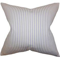 The Pillow Collection Ferebee Striped Cotton Throw Pillow