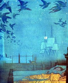 Frederick Cayley Robinson, Dreamships, 1910s    Source: grape-seed