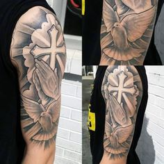 Top 60 Best Cross Tattoos For Men - Photo Ideas And Designs- Top 60 Best Cross Tattoos For Men – Photo Ideas And Designs Cross Tattoo Designs For Men On The Arm - Tribal Cross Tattoos, Celtic Cross Tattoos, Cross Tattoo For Men, Cross Tattoo Designs, Tattoo Sleeve Designs, Tattoo Designs Men, B Tattoo, Tattoo Arm Mann, Hand Tattoo