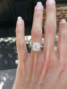 http://rubies.work/0795-emerald-earrings/ radiant cut, pave setting, platinum engagement ring / http://www.deerpearlflowers.com/halo-engagement-rings-wedding-rings/