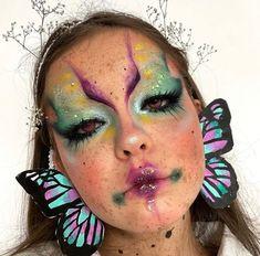 Edgy Makeup, Crazy Makeup, Cute Makeup, Makeup Inspo, Makeup Inspiration, Face Paint Makeup, Eye Makeup Art, Skin Makeup, Halloween Makeup Looks