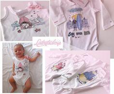 Latontaelrosa baby bebé body rosa pink ilustración illustration accesorios accessoires ropa clothes packaging regalos gift miraquechulo