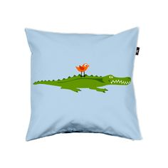 """""""Kroko & Birdy"""" by und-ausserdem Home Textile, Bed Pillows, Pillow Cases, Sewing Projects, Textiles, Home Decor, Sewing, Homemade Home Decor, Interior Design"""