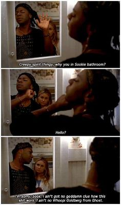 True Blood season 5 episode 9- Everybody Wants to Rule the World. Lafayette in Sookie's bathroom