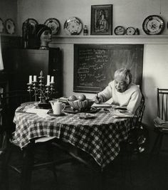 """""""It doesn't much matter where I sit to write."""" - Ann Petry (1908 – 1997), an American author who became the first black woman writer with book sales topping a million copies for her novel The Street.  Photographed by Jill Krementz"""