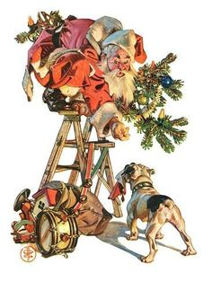 Saturday Evening Post Cover (December Illustration by Norman Rockwell Norman Rockwell Christmas, Norman Rockwell Art, Norman Rockwell Paintings, Illustration Noel, Illustrations, Christmas Past, Vintage Christmas, Christmas Cover, Xmas