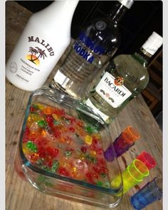 Soaked up gummy bears.