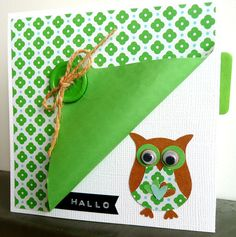 kaart idee Scrapbook Cards, Scrapbooking, Owl Punch Cards, Owl Card, Making Greeting Cards, Marianne Design, Scrapbook Embellishments, Card Sketches, Paper Cards
