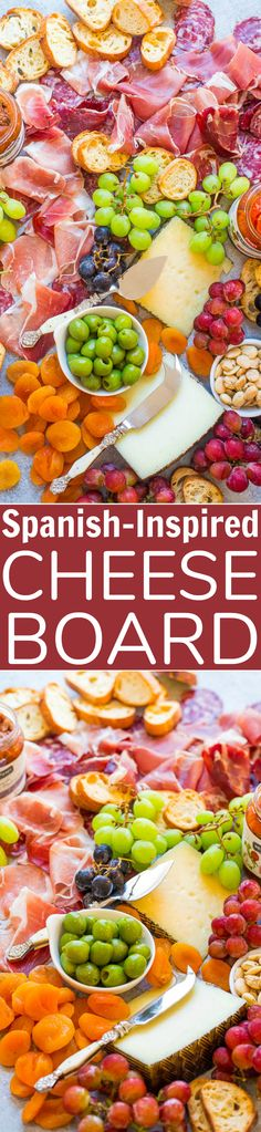 Easy Spanish-Inspired Cheese Board - Learn my TIPS and tricks to create the PERFECT cheese board! From prosciutto to manchego and everything in between, this board has ALL the goodies! It'll be a major hit at your next party! Side Recipes, New Recipes, Cooking Recipes, Favorite Recipes, Healthy Recipes, Amazing Recipes, Delicious Recipes, Easy Recipes, Best Appetizer Recipes