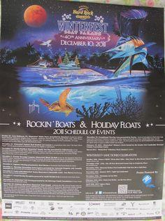 WINTERFEST 2011 BOAT PARADE Poster / Art by GUY HARVEY Sponsor: Hard Rock Hwd FL